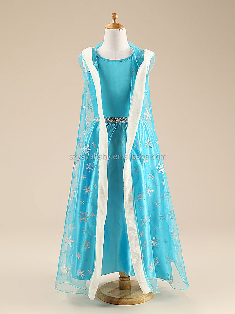 elsa dress cosplay costume in frozen latest children dress designs pictures for baby girl