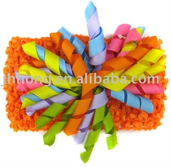 "2 3/4"" CROCHET HEADBANDS with bows HYL05437"