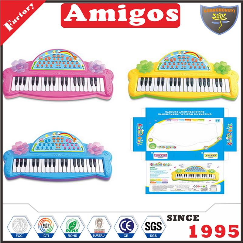 new arrival electronic organ/electronic keyboard pink/yellow/blue musical toy