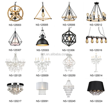 Loft Retro Chandelier Lights Industrial Iron Pendant Lighting Vintage Lamp