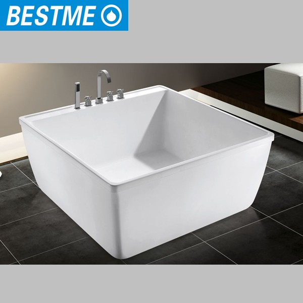 Korea small size square bath tub portable acrylic for Best acrylic tub