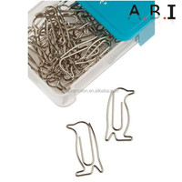 animal shaped metal paper clips in box