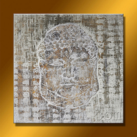 Wholesale Framed Acrylic Buddha Wall Art Painting On Canvas For Decoration