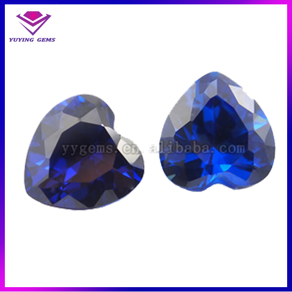 2.25*2.25mm 34# Loose Stone Heart Cut rough Sapphire blue topaz corundum For Jewelry