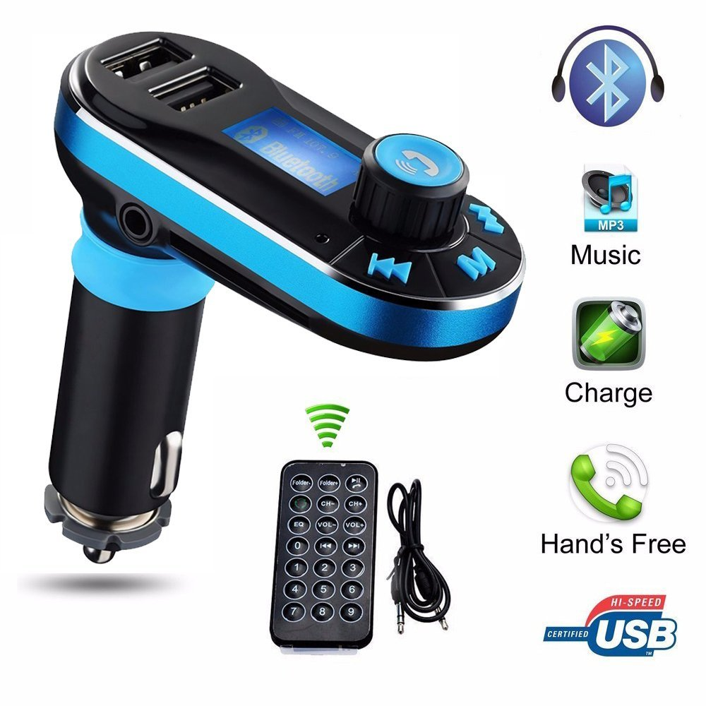 2017 Multi-function Support TF Card <strong>U</strong> <strong>disk</strong> & Line-in AUX <strong>USB</strong> Car charger Bluetooth Handsfree bluetooth fm transmitter