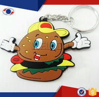 Newest design Eco-friendly material rubber 3D key chain Guangzhou