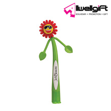 Funny decorative sunflower shaped PVC ballpoint pen