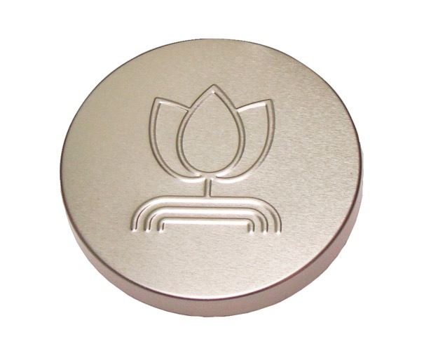 embossed logo aluminum screw metal cap / lid threaded