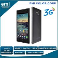 Cheapest 5.0 inch Mobile Phone MTK6572 cell Phone Android Smart Phone