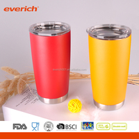 Everich New Design Double Wall Vacuum Sealed Stainless Steel Tumbler With Different Surface Finish