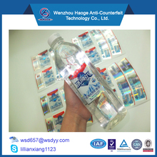 Clear plastic self adhesive label stickers printing