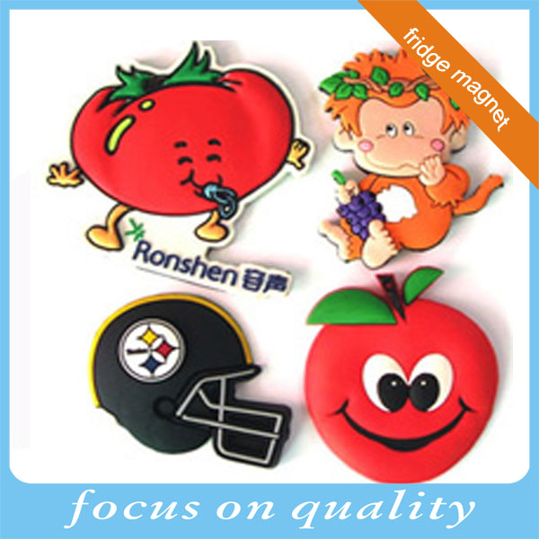 high quality miro injection embossed rubber 3d pvc giveaway souvenir fruit fridge magnet for promotion