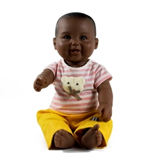 Hot selling 18 inch plastic african black dolls with soft arms and legs for kids