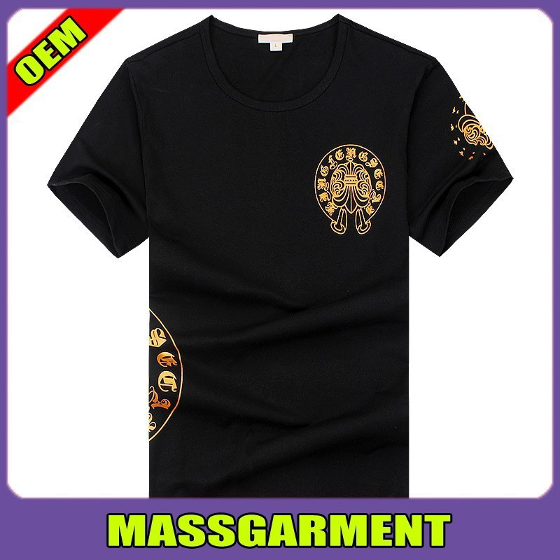 Custom design wholesale clothes, new fashion black man tshirt, Exquisite plain t-shirt screen printing