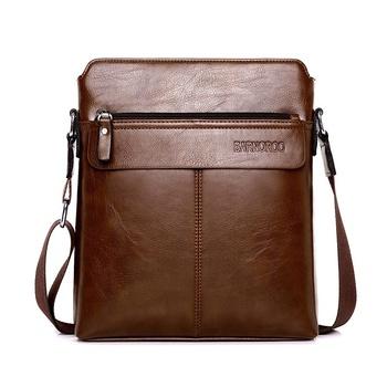Fashion Business Casual Men Crossbody Satchel Bags Waterproof PU leather bag messenger Single shoulder Sling bag