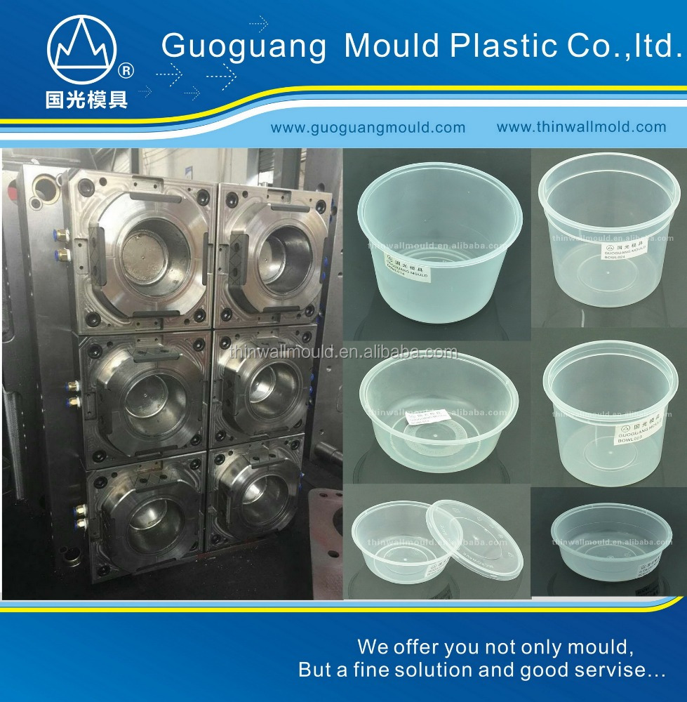GR748 thin wall food container plastic packing mould lunch box mould