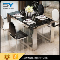 Dining table base for glass top with china factory CT009