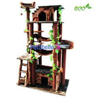 2015 best seller cat scratcher toy of cat tree in brown sisal rope