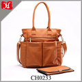 Customized Fashion Multi-function Mummy Baby Tote Leather Diaper Bag