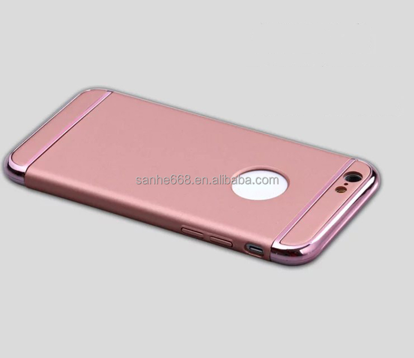 good touch design waterproof electroplating pc mobile phone accessories classic slim luxury case cover for iphone 5 6 7 for man
