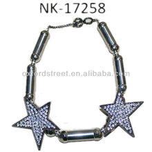 Fashion Channel Design Jewelry Necklace with Stars