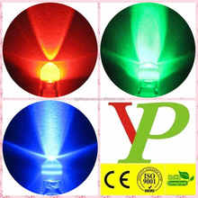 Super Bright Red/Green/Blue/Yellow/White/orange/purple 5mm round Water Clear LED Diode