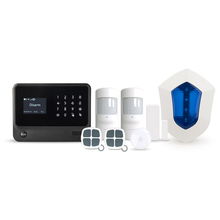 2017 newest WIFI/GSM/SMS alarm system with touch screen,black&white color smart home security alarm system