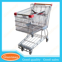 Australian-style stainless steel supermarket walking shopping cart