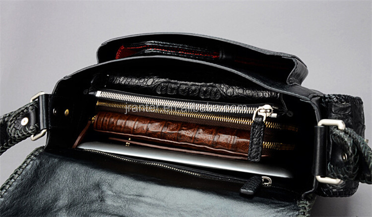 Hot sale!! New fashion genuine crocodile leather men shoulder bag,men messenger bag,business leisure bag