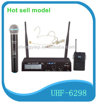 mini plastic microphone hotsell dual channel UHF collar wireless microphone for karaoke