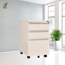 3 Drawers knock Down Structure Steel Mobile Pedestal Cabinets with Lock