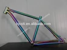 2017 Hot sale rainbow titanium mountain bike/ Road bike frame