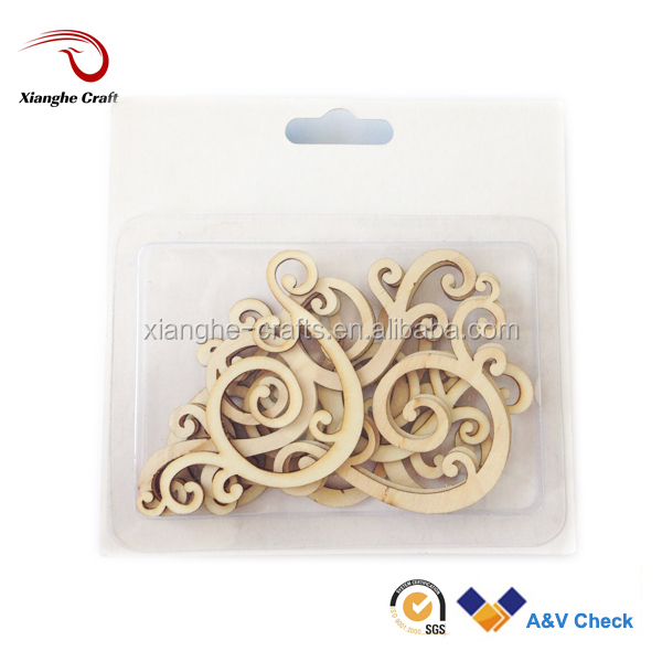 natural color wood shapes, flourish wood shapes, craft wood shape supplies