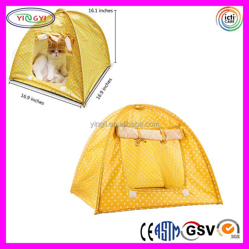 F156 Pet Supplies Washable Durable Pet Tent Cat Bed Cute Dots Style Small Size Cat Tent