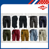 wholesale cotton mens cargo shorts manufacturing summer workwear camouflage with belt
