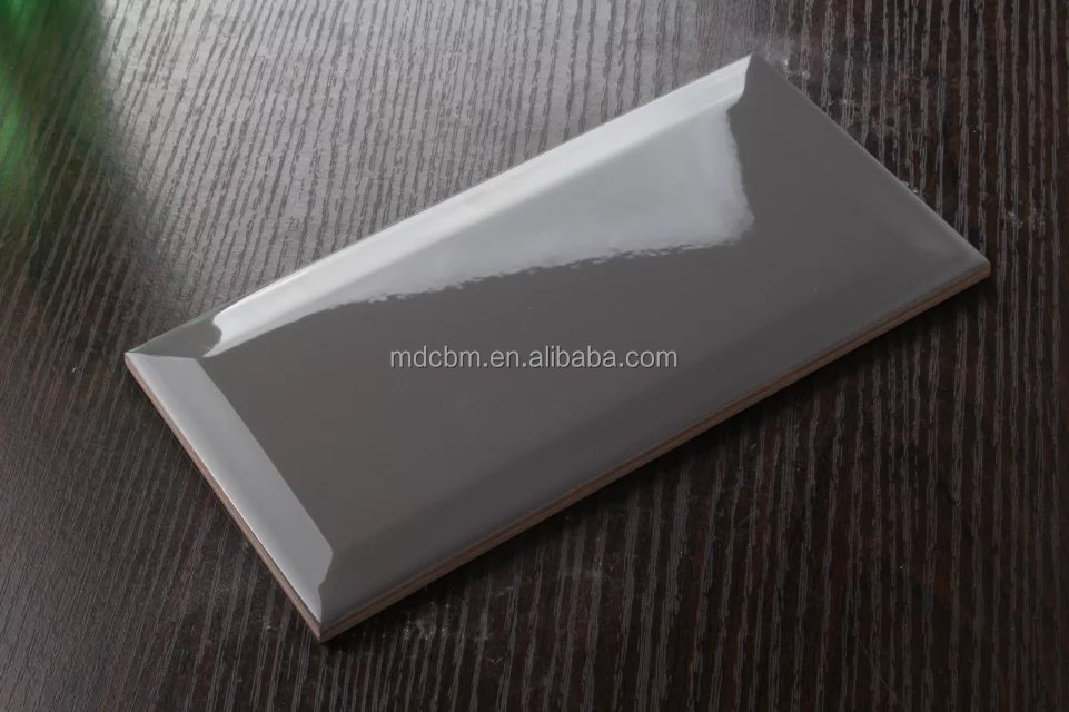 Grey mirror wall <strong>tile</strong> beveled 75*150mm 3*6 inch M751502X