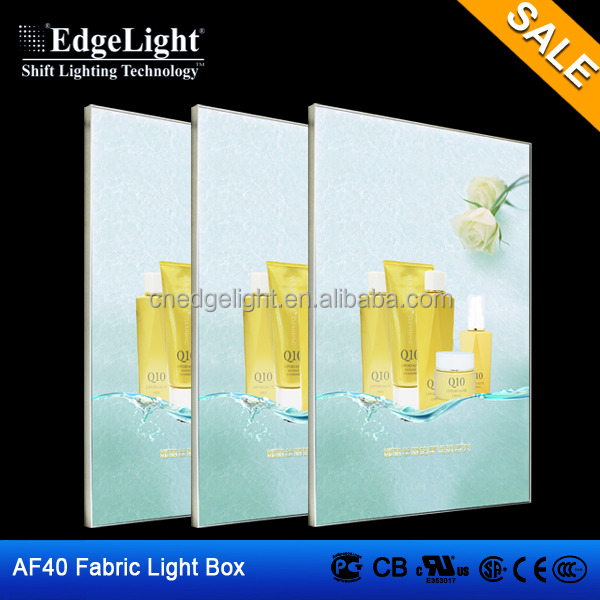 High brightness customized fabric light boxe / textile ultra slim light box
