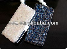 Wholesale - Luxury Crystal diamond case flip cover for iphone 5 5G