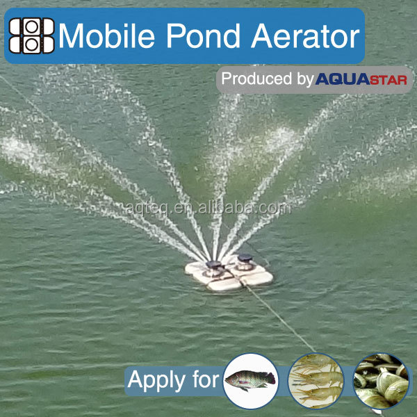 AQUASTAR new product mobile pond aerator better than solar powered aerator not china supplier