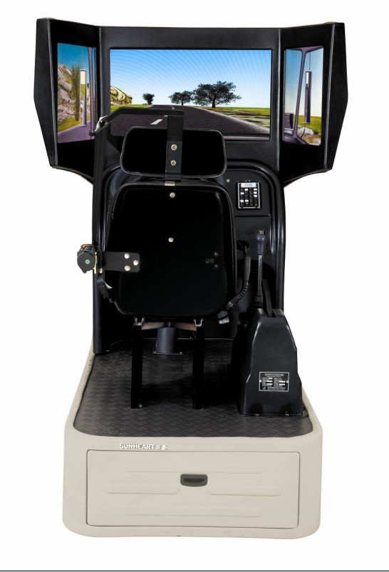 Hot sale! 120 degree visual interactive truck driving simulator