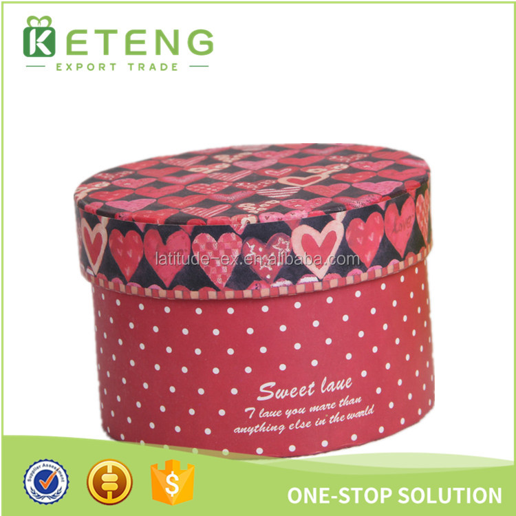 Round paper gift box tall wedding cake box