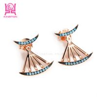 latest design 925 sterling silver jewelry graceful earrings