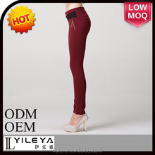 Fashionable cheap casual tight ladies stretch pants