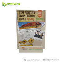 poster card /business card /gift card cardboard greeting card display stand
