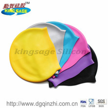manufacture oem custom novelty water proof funnny silicone ear swiming cap