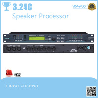 3 input/6 output speaker processor possess crossover EQ