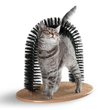 New Arrival Arch <strong>Pet</strong> Cat Self Groomer With Round Fleece Base Cat Toy Brush Toys For <strong>Pets</strong> Scratching Devices