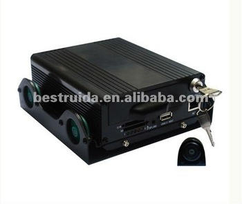 4 channel hd car black box camera with gps and wan