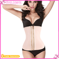 Nude Zipper 100% Latex Corset Zipper Corset 6 Steel Bones Waist Trainer Cincher Corset For Fat