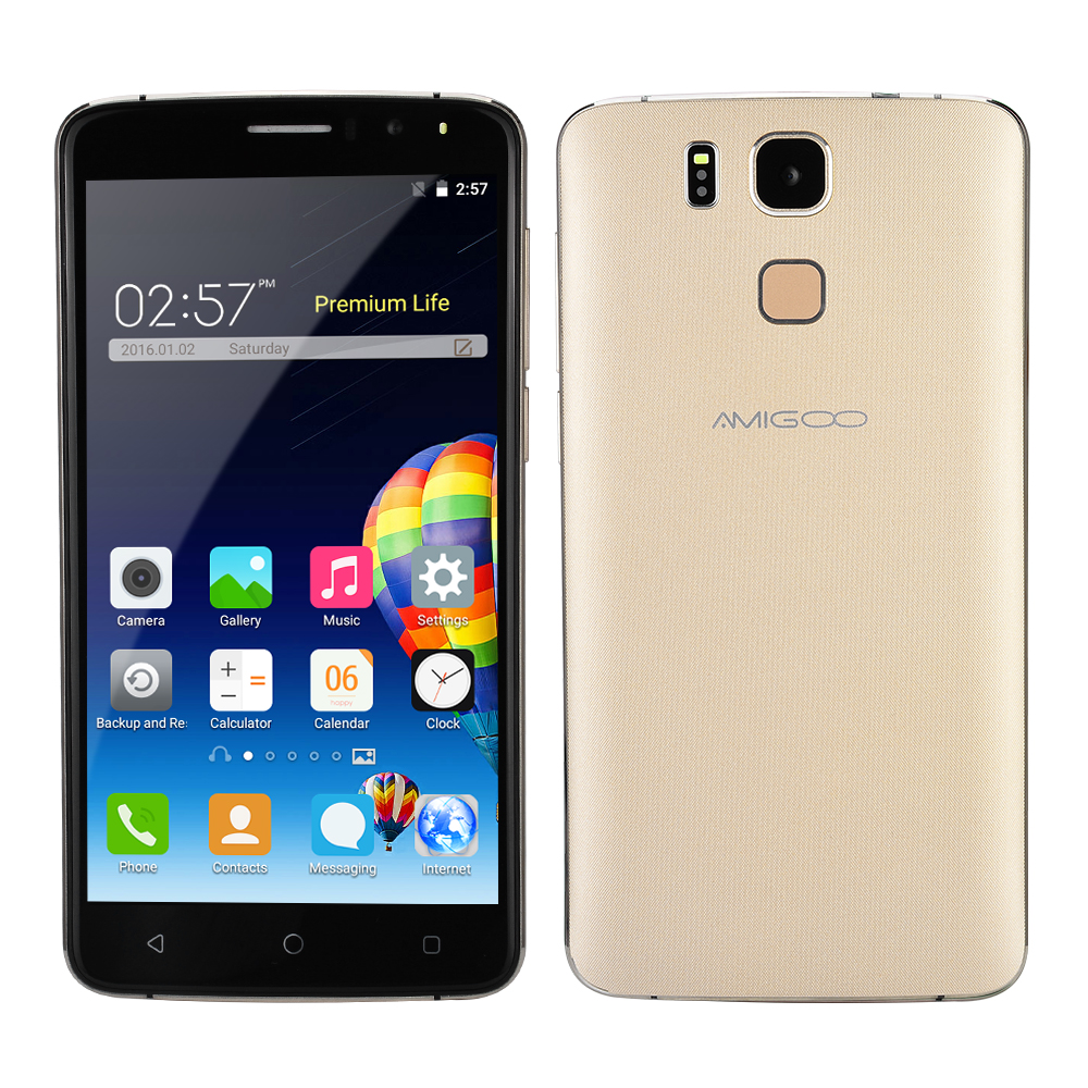 Original Amigoo <strong>X10</strong> Smartphone 6 Inch Dual SIM Cards MTK6580 Quad Core Fingerprint ID Android Mobile <strong>Phone</strong>